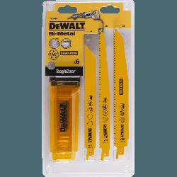 DeWalt 6 pcs reciprosaw blade set