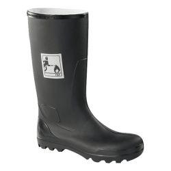 Black rubber fireman boots