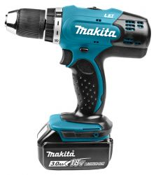 Makita DDF453 18V Drill/Screw machine with 3.0 Ah batteries and rapid charger